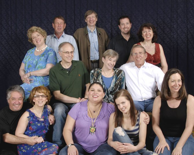 Seated first row, from left: Dino Coppa, Marisa Johnson, KJ Jacks, Andra Dindzans, Lee Slivka; second row: Gayle Nichols-Grimes, Rich Bird, Mary Suib, Mark Yeager; back row standing: Randall Baughman, David Gorsline, Matt Williams, Leta Hall.