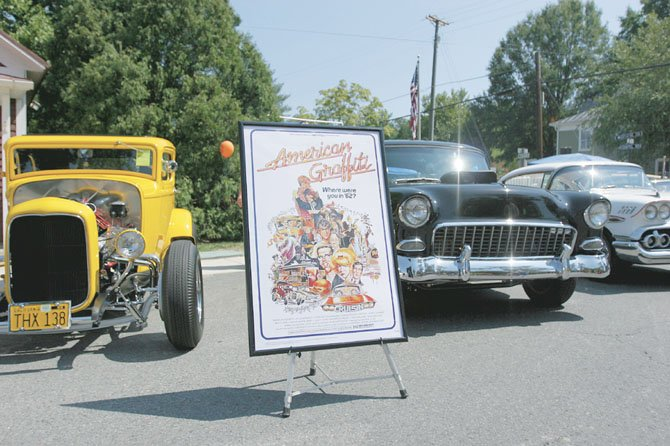 In the past, the Clifton Car Show has featured the cars seen in George Lucas' 1973 movie �American Graffiti.� They are, from left, a 1932 Ford Deuce Coupe, a 1955 Chevrolet and a 1958 Chevrolet Impala.