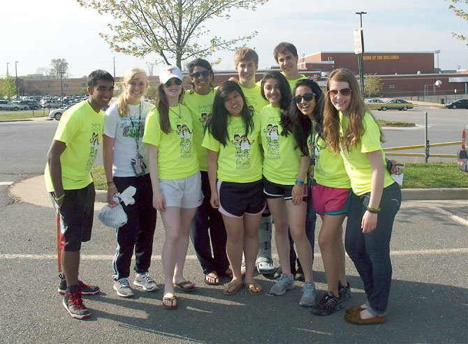 From left are Hollow Trunk board members Shriram Sundararaman, TJ; Shannon Parker, Fairfax High; Sarah Haug, Westfield High; Priya Khanna, Westfield; Christina Kim, Fairfax; Wills Johnston, TJ; Diana Saffarini, Chantilly High; Miles Ransom, Chantilly; Noor Siddiqui, Robinson Secondary, and Maddie Welch, Chantilly.