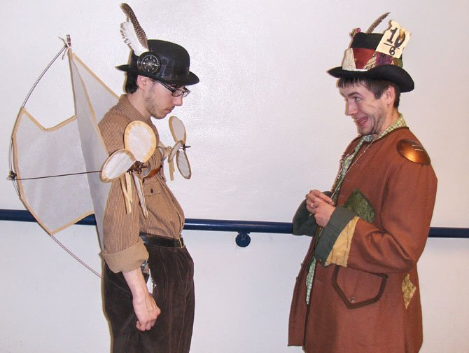 (From left) are Sam Bergman as the winged Griffin and C.J. McCracken as the Mad Hatter.