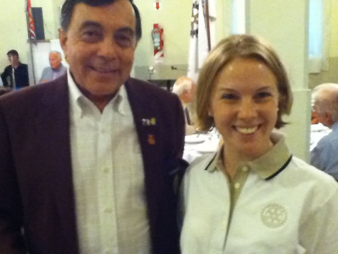 Osvaldo Troccoli, Rotary District 4825 Governor, and Lauren Conn.
