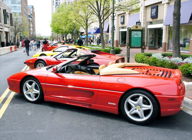 Ferraris in a row on Market Street.