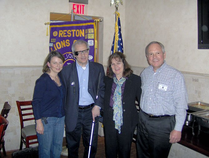 From left - Luehrs; D'Addario; Sue Beffel, Vice President of the Reston Lions Club and Steve Reber, President of the Reston Lions Club.