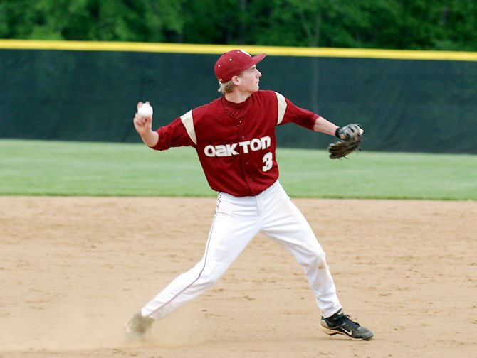 Oakton junior shortstop Mitchell Carroll has played well for the Cougars this season both at shortstop and at the plate.