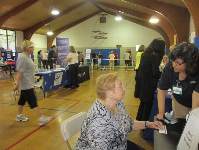 The first health and wellness fair focusing on mature adults was held on April 21 at the Vienna Community Center. Featured were screenings, information dissemination and exercise classes.
