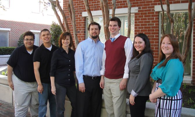 "Team ""Richard's Lunch"" is one of two teams that will represent Alexandria at the fourth national championships of World Tavern Trivia. Derek McGuire, Nick Prelosky, Jane Zaretskie, Jose ""JR"" Lazo, Nicole Jackson, Sterling Wiggins and Gina Kvitkovich are colleagues with the Alexandria-based Helicopter Association International."