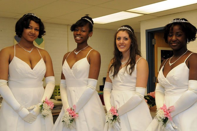 West Potomac High School seniors Rebecca Adams, Morgan Ramsay, Angelica Lewis and Brianna Boyd.