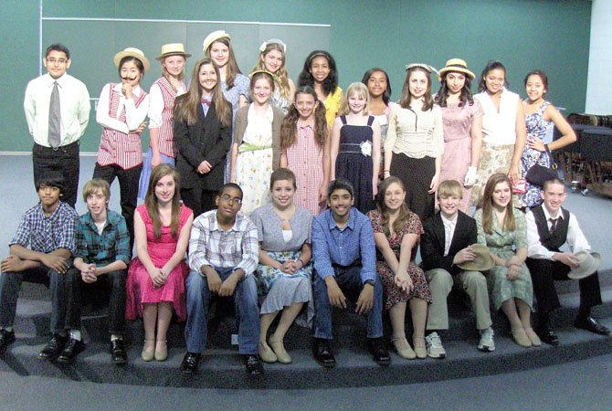 "The cast of Liberty Middle School's production of ""State Fair."""
