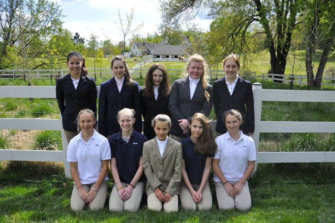 Members of the Connelly School of the Holy Child JV Equestrian Team.