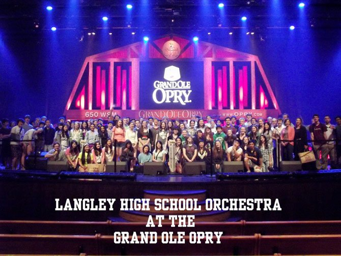 Langley High School Orchestra went to Nashville.