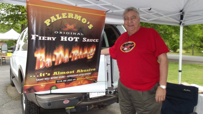 Mike Palermo of Great Falls, has been bringing his sauces and rubs to the market for three years.