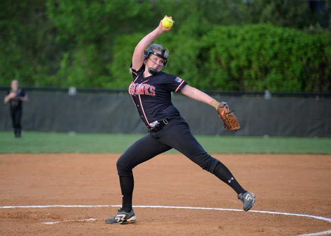 Madison pitcher Kelsey Ross earned the decision in the Warhawks 5-4 win over Marshall. 