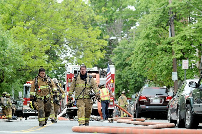 Firefighters from the City of Alexandria Fire Department, assisted by Fairfax County Fire Department, responded to a report of a kitchen fire in a home located in the 200 block of South Payne Street on Monday, April 30.