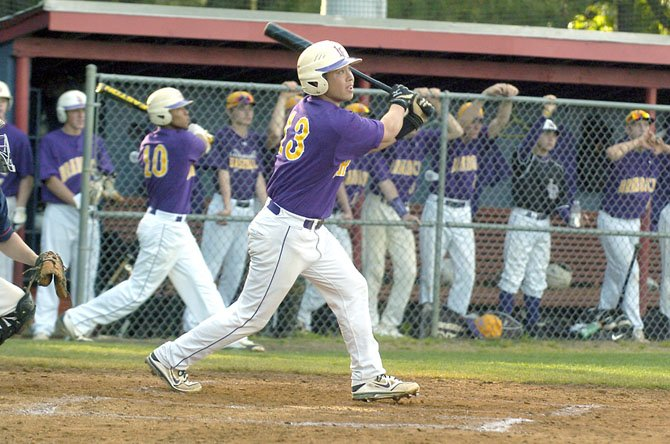 Lake Braddock junior Alex Gransback hit a grand slam against Woodson on May 1 during the Bruins 9-2 victory.