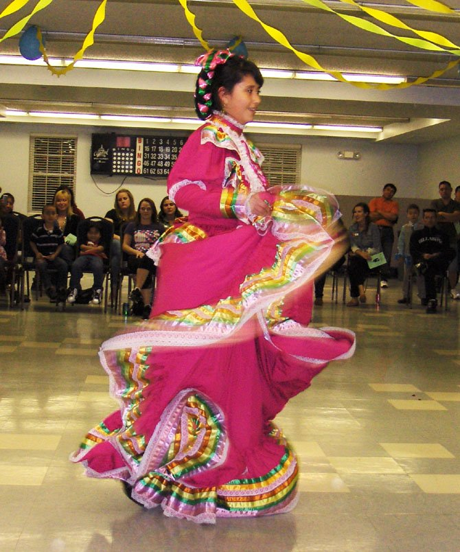 Jazmin Rocha did a dance from Jalisco, Mexico, with Arnoldo Borja (not pictured).