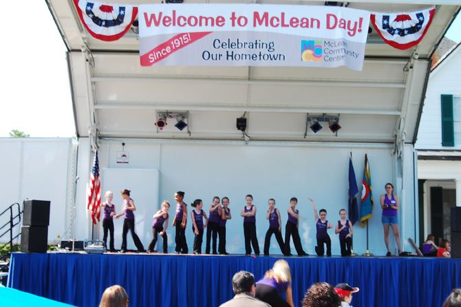 Young dancers who are enrolled in Joy of Dance classes at MCC show what they've learned on the McLean Day stage.