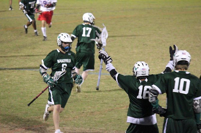 The Wakefield boys' lacrosse team snapped a 99-game losing streak with a victory against Park View on April 24.