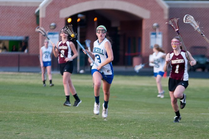 Maddy Flax and the Churchill girls' lacrosse team enter the postseason as the 4A/3A West Region's No. 2 seed.