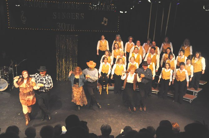 """The Towne Square Singers pay tribute to their """"100 Years of Broadway"""" concert at their 30th anniversary concert Saturday, May 5."""