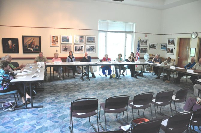 Members of the Great Falls Citizens Association's Seniors Group meet at the Great Falls Library Wednesday, May 2.