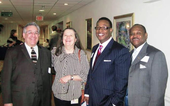 From left, Steven Paikin, a HUD official; Patricia Stephan-Fawcett, with the County's Office of Human Rights and Equity Programs (OHREP); Kenneth Saunders, executive director of OHREP, and Ernest Dawson, a HUD official, attended a Fair Housing Conference/Training Session in April for housing providers, realtors and others providing housing-related services hosted by OHREP.