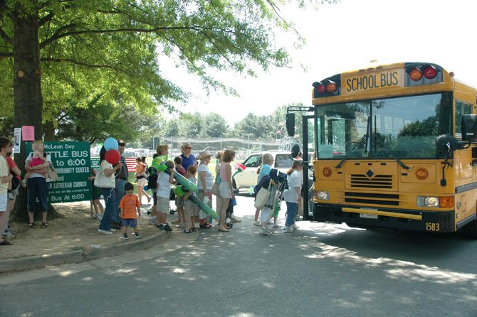 Families can save time, energy and money by taking a shuttle bus to McLean Day at Lewinsville Park.