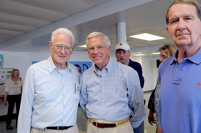 Members of the Class of '57: Jeff Barnes, Phil Yates and Ross Hunt.
