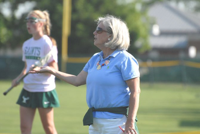 St. Stephen's & St. Agnes girls' lacrosse coach Kathy Jenkins secured her 600th career victory when the Saints defeated Holy Child on May 3.