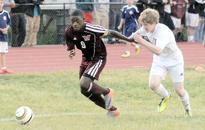 Amardo Oakley and the Mount Vernon boys' soccer team suffered its first loss of the season against Chantilly on April 30, but bounced back to beat Hayfield and West Potomac.