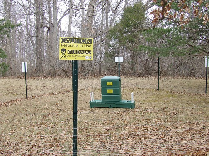 Fences have been constructed around all 20 treatment stations. Signs have been clearly posted at each fence plot site and park patrons are prohibited from handling any equipment or entering the fence plots. Each station is under police surveillance.