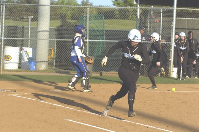 Centreville had a busy day on the base paths in its 9-2 Concorde District home softball win over Robinson on April 27.