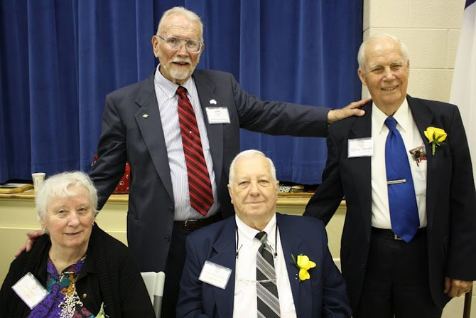 Heritage Charter Members (front row) Nita and Paul Potts, (back row) Krieger Henderson, Anniversary Committee chairman and John Hayes.