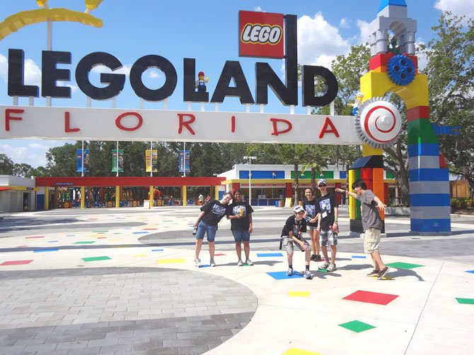 The Brainy Bunch First Lego League (FLL) team at the Closing Ceremony at Legoland.