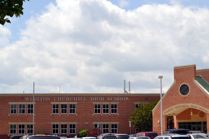 Potomac's Winston Churchill High School was named the top public high school in Maryland.