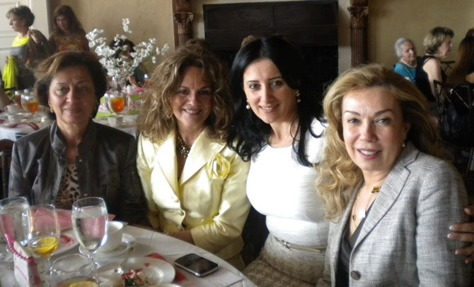 From left: Labibe Nohra, Kathy Shehade, Pauline Habr and Baria Sibay enjoy the luncheon organized by members of Saints Peter and Paul Church.