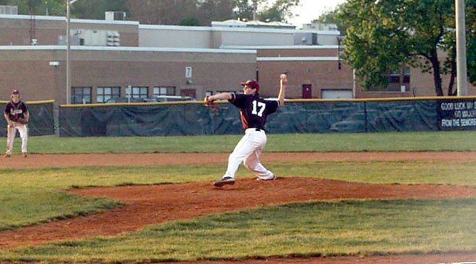 Mount Vernon pitcher David Lehner threw an eight-inning, no-hit shutout against Edison on May 7.
