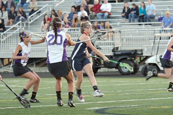 Woodson senior Grace Finnerty scored five goals against Lake Braddock in the Patriot District girls' lacrosse tournament final on May 11.