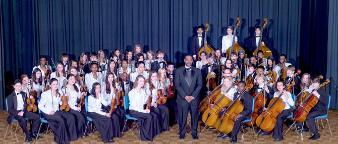The George Washington Middle School Orchestra, conducted by Jonathan Ray Jones, performed April 30 at the John F. Kennedy Center.