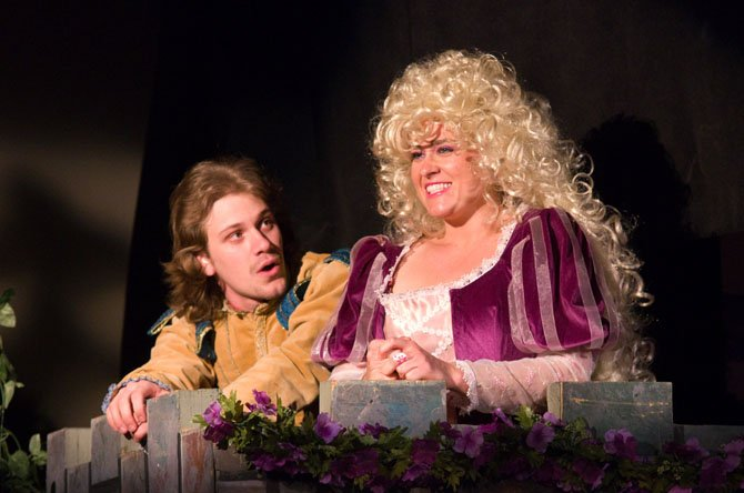 "From left Eben Kuhns and Ashley San in the Workhouse production of the magical fairy tale ""Rapunzel."""