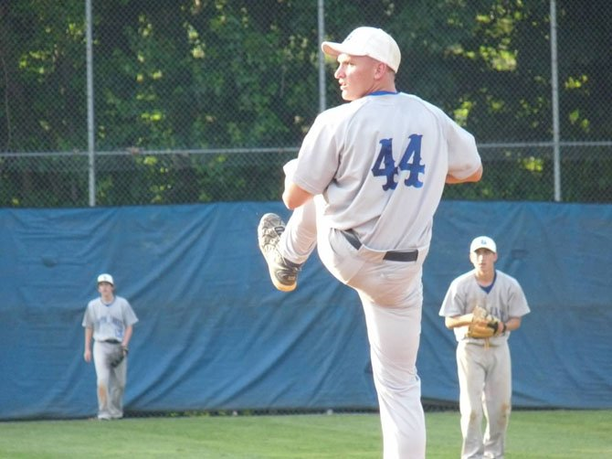 Bobby Rae Allen pitched the seventh inning versus Fairfax last week, earning the save in his team's 8-7 playoff win.