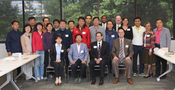 Representatives from the province of JeollaNam-Do in South Korea visit Reston.