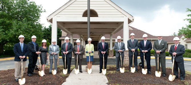 Vinson Hall Retirement Community broke ground to begin construction on a large expansion project on May 14.