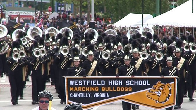 Westfield High's Concert, Symphonic and Wind Symphony bands plus the Marching Bulldogs participated in the Virginia International Music Festival in Norfolk, April 27 and 28. It featured bands from as far away as Minnesota and International Bands from Belgium, Norway, Albania, plus military bands from each of the Armed Forces. The results from the International Music Festival: Jazz Band, Gold Medal, First Place Division III, Outstanding Solist Andrew Harrington; Concert Band, Gold Medal, Second Place Division I; Symphonic Band, Gold Medal, First Place in Division II; Wind Symphony, Gold Medal, Outstanding Soloist Justin Carpenter, First Place Division II; Marching Band, International Parade of Nations, Gold Medal, Best Music, Best Marching. The four Gold Medals earned by WHS were 4 of the 6 Gold Medals given for the entire weekend of competition. Additional recognition included Grand Champion Jazz Band, Grand Champion Concert Band and Grand Champion Parade of Nations.
