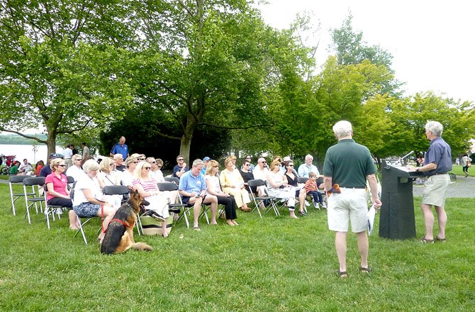 Residents and community members attend the annual Founders Park Community meeting May 20. Issues affecting the waterfront and the park were discussed.