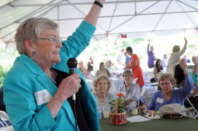 MVAH president Virginia Hodgkinson welcomes all to the third annual celebration at River Farm.