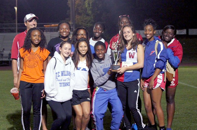 The T.C. Williams girls' track and field team placed second at regionals.