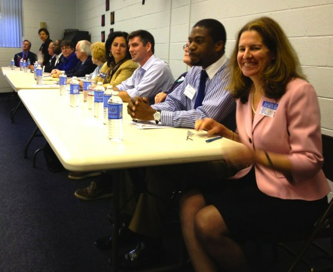 All 14 Democratic candidates appear at a forum earlier this month at Cora Kelly Recreation Center.