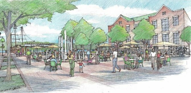 Recommendation 3.69 of the waterfront plan calls for creation of a new public plaza called Fitzgerald Square where the Old Dominion Boat Club's parking lot currently exists.