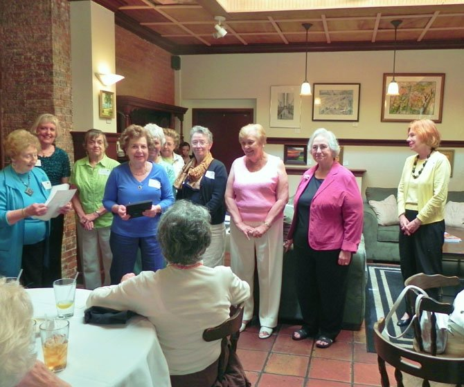 McLean Woman's Club's installs 2012-2013 officers.
