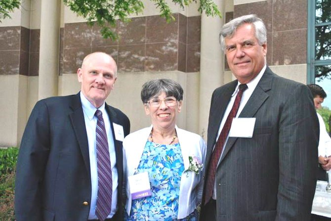 "Bill Wilson, ""Lady"" Tessie Wilson, and Superintendent of Fairfax County Public Schools Jack Dale at the 30th anniversary of Celebrate Fairfax honoring the 2012 Lord and Lady Fairfax nominees. The event was held at the Fairfax County Government Center Tuesday, June 6."